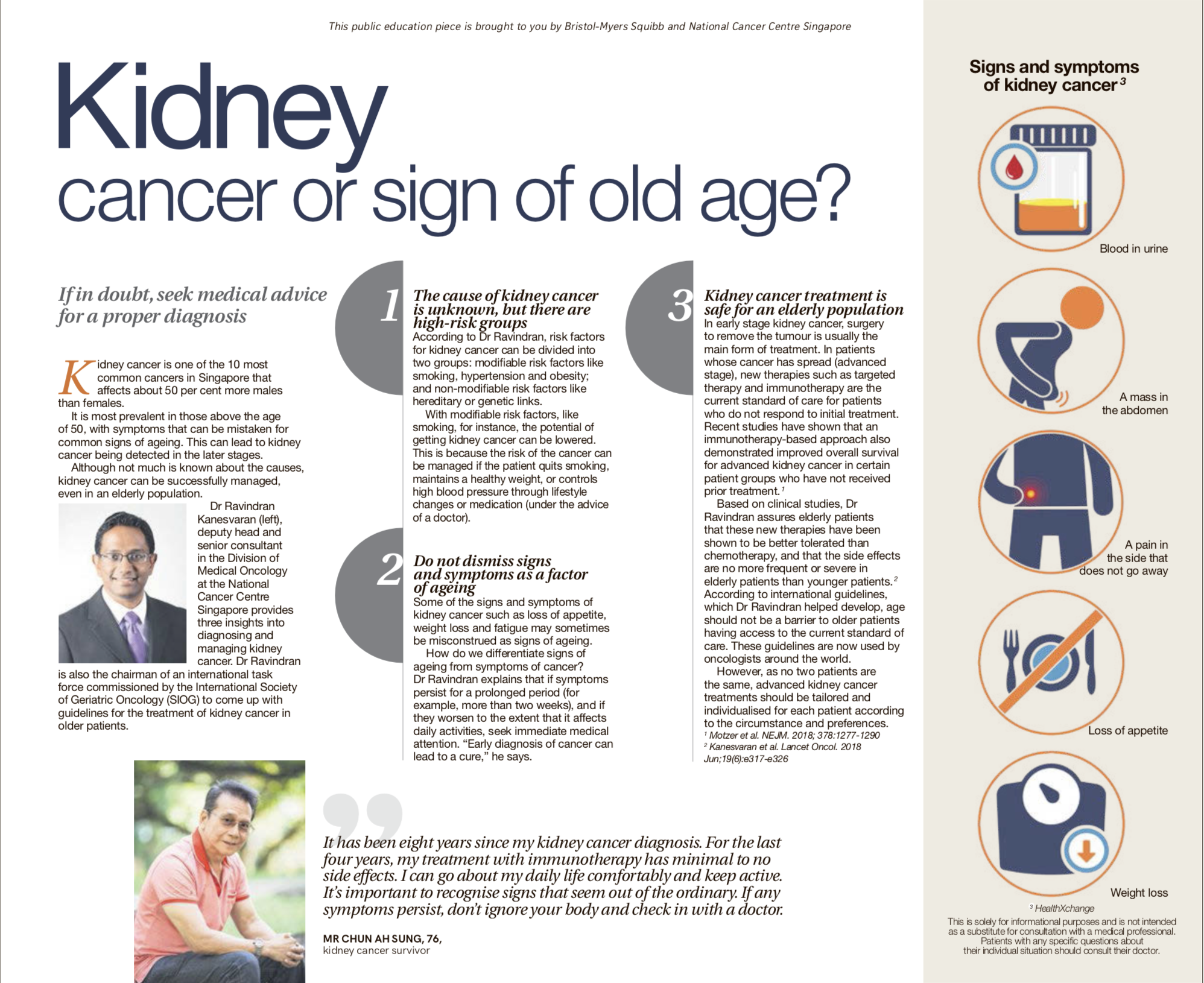 Kidney Cancer Or Old Age Daily Manna